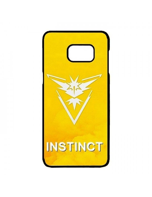 Coque rigide Samsung Galaxy S7 edge - Pokemon go team instinct jaune - Contour noir