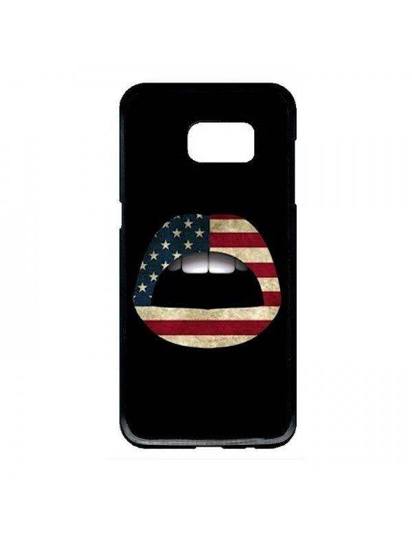 Coque rigide Samsung Galaxy S7 Edge - Lèvres drapeau États Unis
