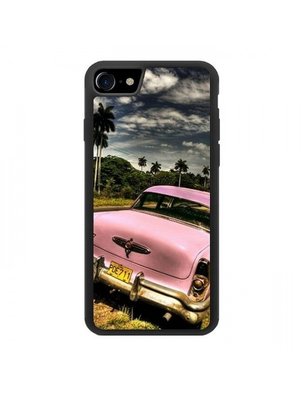 Coque iPhone 7/8 - Belle Buick rose de Cuba