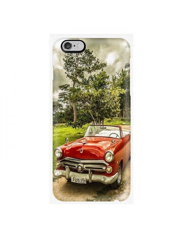 Coque iPhone 7/8 -  Belle américaine rouge de Cuba année 50