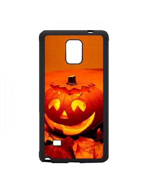 Coque rigide Samsung Galaxy Note 4 - Halloween citrouille orange