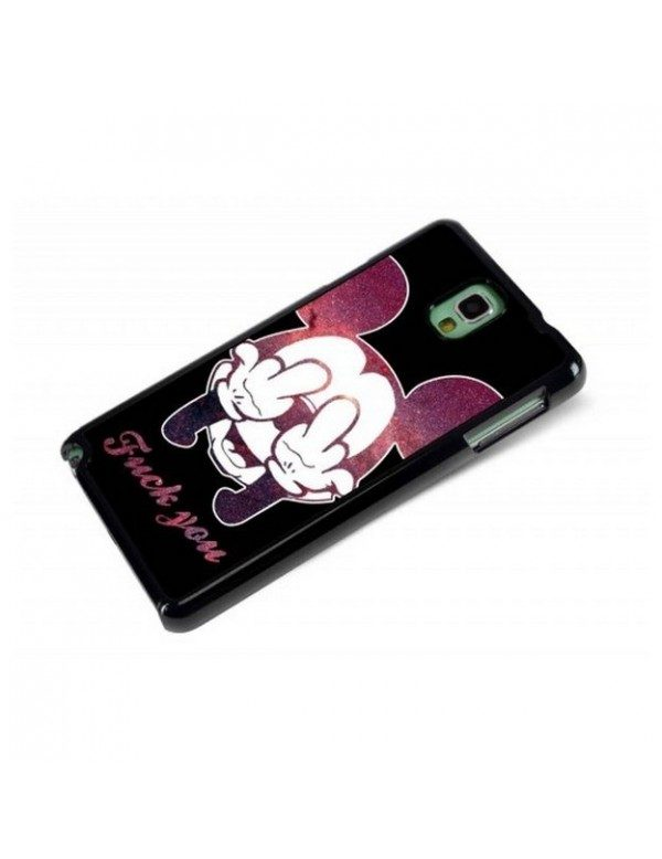 Coque rigide pour Samsung Galaxy Note 3 Fuck you Mickey
