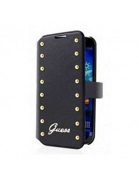Etui-Folio-Noir-Guess-Officiel-Studded-Collection-Galaxy-Trend-Lite