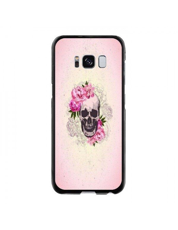 Coque rigide Samsung Galaxy S8 - Skull fleurie rose