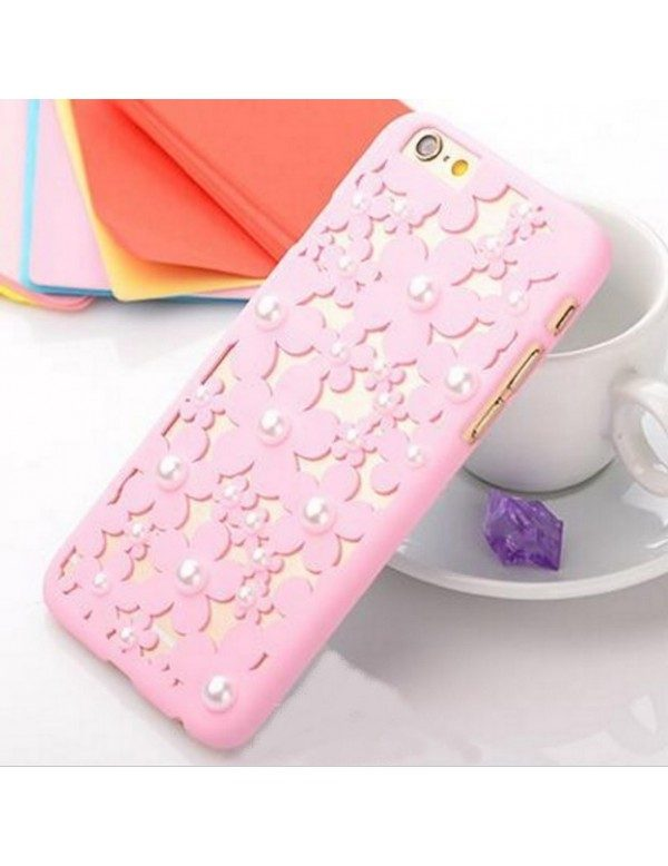 iPhone 6 plus/6S plus coque rose perles