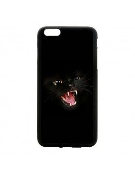 Coque iPhone 6 Plus 6S Plus Chat noir terrifiant