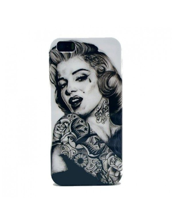 "Coque iPhone 5/5S ""Marilyn  Monroe bras tatoué """