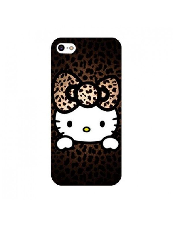 Coque iPhone 5/5S, SE Hello Kitty marron