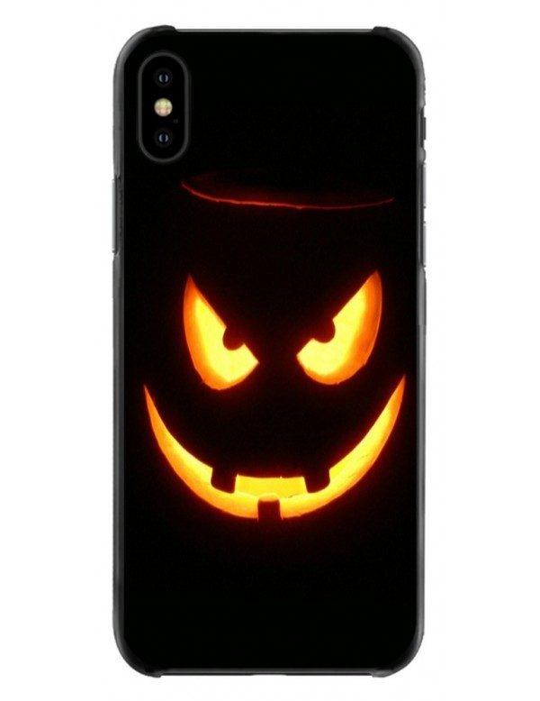 Coque iPhone souple Halloween Sourire Diabolique lumineux