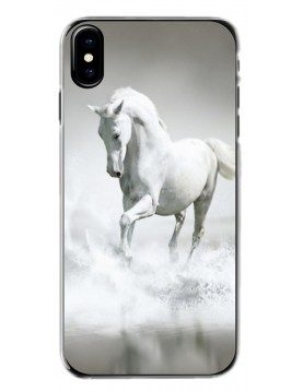 Coque-rigide-iPhone-xs-max-cheval-blanc-mer