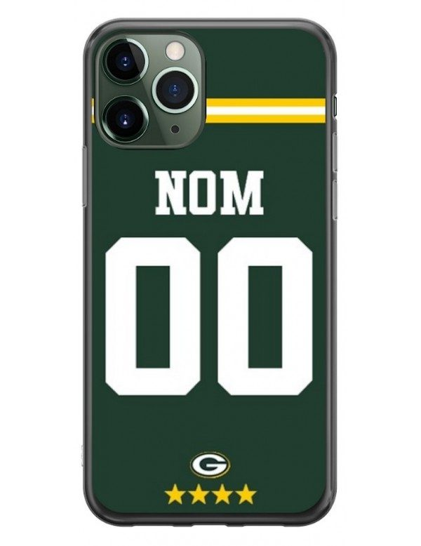 COQUE MAILLOT NFL - GREEN BAY PACKERS DOMICILE - PERSONNALISABLE