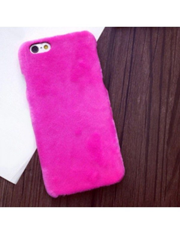 Coque iPhone 6/6S - Peau de peluche fourrure rose fushia