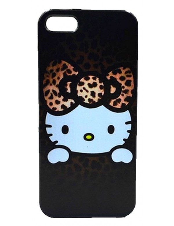 Coque iPhone 5C Hello Kitty marron