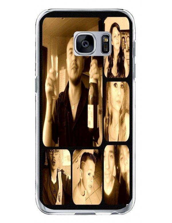 Samsung Galaxy S7 Edge - Coque personnalisable - Rigide Transparent