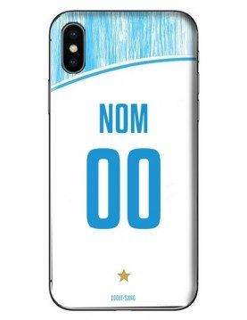 COQUE MAILLOT FOOT - MARSEILLE OM DOMICILE 2018/2019 - PERSONNALISABLE