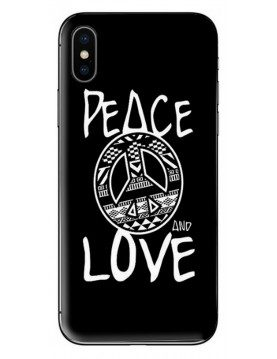 Coque  Peace and Love noir