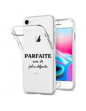 COQUE EN SILICONE TRANSPARENTE IPHONE 7 PLUS/ IPHONE 8 PLUS - PARFAITE AVEC DE JOLIS DEFAUTS