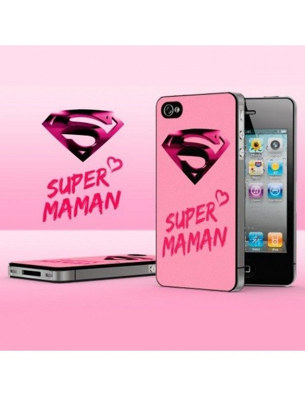 Coque iPhone 4/4S - Super maman