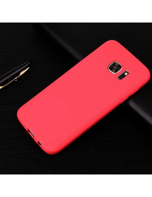 Coque silicone Samsung Galaxy S8  rouge antidérapant